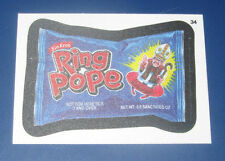 WACKY PACKAGES ANS11 CLOTH STICKER #34 RING POPE  @@ RARE @@   NM