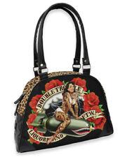 Liquorbrand Double Trouble Bowler Bag Tattooed Rockabilly Handbag Alternative