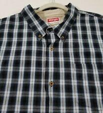 Wrangler Men's Short Sleeve Button Up Shirt 3XT Tall Multicolor Plaid Pocket