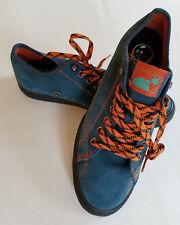 New THE HUNDREDS SKATE SHOES Sz 9 TEAL ORANGE Leather Suede BLACK SOLES