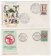 Madagascar  Tatanarive 2 FDC enveloppes timbres 1er jour 1960 /FDC113