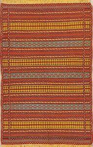 Flat-Weave Geometric Kilim Oriental Turkish Area Rug Wool Hand-Woven 3x5 Carpet