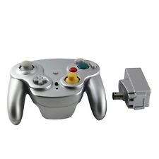Gamecube Nintendo Wii Wavebird Style Wireless Controller by Mario Retro - Silver