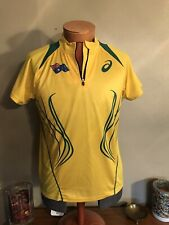 Asics Yellow Austrailian Jersey. Size Large With Tags.