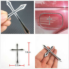 Religious Christian 3D Cross Badge Emblem Auto Exterior Decor Sticker For Mazda