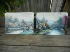 Lot Thomas Kinkade Village Collector Plate Lamplight County & Brooke Bradford