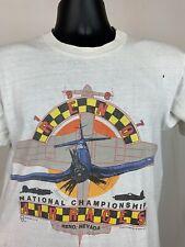 Vintage 1987 Reno Nevada World Championship Airplane Air races Shirt Size L 80s