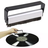 Vinyl Record Brush Antistatic Carbon Fiber Dust Cleaner Turntable Cleaning DE