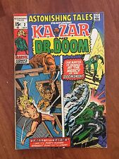 Marvel ASTONISHING TALES #2 (1970) KA-ZAR & DOCTOR DOOM    GREAT!