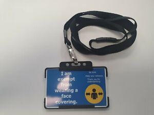 Face Mask Exemption Lanyard   Face Covering Hidden Disability Cards