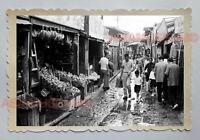 MARKET STREET BOY VILLAGE FOOD SHOP STALL HONG KONG VINTAGE Photo 23018 香港旧照片