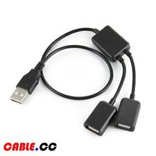 Cablecc USB 2.0 Dual Port Hub Cable Bus for Laptop Macbook Keyboard & Mouse