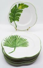 """Vietri Ginkgo Salad Plates 8"""" 
