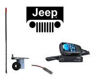 NEW UNIDEN CMX760 CB Radio & 98-06 JEEP 3' Antenna Mount Combo Kit w/ Coax