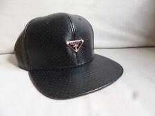 b9b3c34739b32 ASOS Men s Reason Black Hat Cap Leather Look Perforated BNWT!