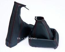 Schaltsack + Handbremssack FADEN ROT passend für OPEL VECTRA B Bj. 95-03 Leder