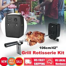 """42"""" Bbq Grilling Rotisserie Spit Roaster Charcoal Pig Chicken Breef W/Motor Kit"""