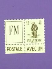 "FRANCE FRANCHISE MILITAIRE YVERT 10A "" INFANTERIE AVEC VIGNETTE "" NEUF(x) TB W13"
