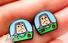 Disney toy story Buzz Lightyear  metal earring ear stud earrings 2PCS earring ne