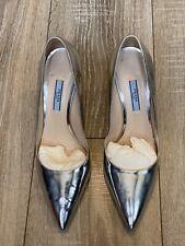Prada Silver Metalic Heels Size 5uk/38eu