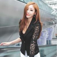 Women OL Casual Suit Lace Jacket Blazer Plus Size Top Cardigan Great S,M,L,XL