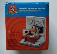 Looney Tunes Hand Painted 3D Figurine ( Taz Quitting Time ) with Clock
