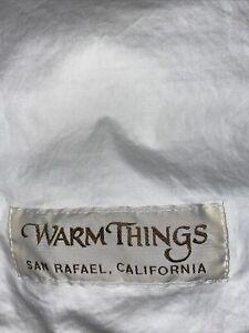 Warm Things Premium Regular Twin White Goose Down Comforter EUC