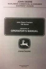 John Deere 100 series Lawn Tractor Owner Manual 52p La100 La 110 120 130 140 150