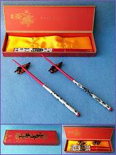 6 Pz. Essstäbchen-set Bacchette per Mangiare e Enten-Ablagen Legno di Bambù