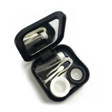 Travel Cute Cartoon Beard Contact Lens Case Eye Care Kit Holder Black QWS