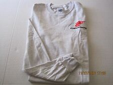 TShirt Checkmate Knight Boat Logo Ash Gray L/S Size S 100% Ultra Cotton New!
