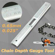 Chainsaw Depth Gauge File Guide Tool 0.65mm for Chain Saw Oregon Raker Removal
