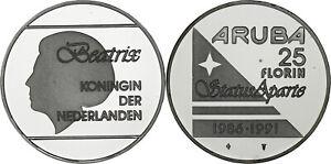 Aruba: 25 Florin silver 1991 - Proof