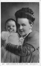 POSTCARD  ROYALTY   NETHERLANDS   Queen  Wilhelmina  &  Baby