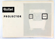 Rollei Projector Instruction Manual, 12 pages, Printed September 1961