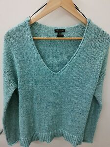 Massimo Dutti Jumper Knit Made in Italy Blue Teal 8