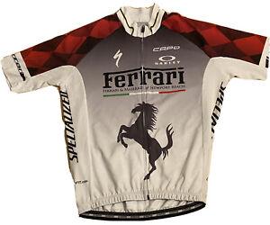 FERRARI Cycling Jersey Shirt Maserati Capo Large Made Italy Racing Oakley NEW