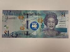 2018 (2020) Cayman Islands 1 Dollar 60 Years Unc Banknote-Green Sea Turtle inCOA