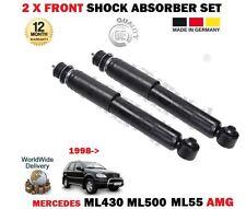 FOR MERCEDES ML430 ML500 ML55 AMG 1998-2005 2 X FRONT SHOCK ABSORBER SHOCKER SET
