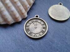 Antique Bronze Clock Watch Charms 12pcs D1 Steampunk Vintage Pendants Kitsch