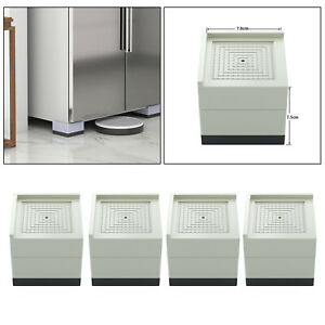 4x Durable Bed Furniture Risers Desk Lifts Floor Feet Protectors Support