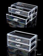 Berucci Two Drawers Acrylic Jewelry Makeup Cosmetic Organizer Holder Storage