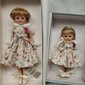 """Vogue 8"""" Ginny & 10 1/2"""" Jill Ribbons and Roses Sister LE 250 pcs w Box 2011"""