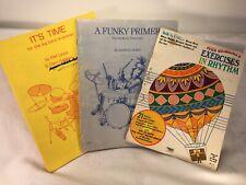 Vintage 1970's Set Of 3 Drum Instruction Books Lewis/DeRosa, Dowd, Brimhall