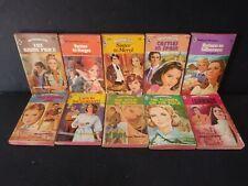 Lot of 10 Vintage Harlequin Romance Novels 1970's Red Edge Paperback