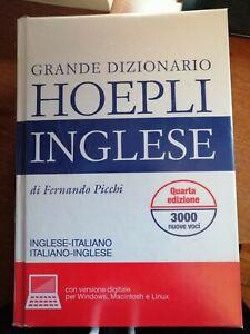 Grande Dizionario Inglese Italiano bilingue Hoepli Picchi +cd