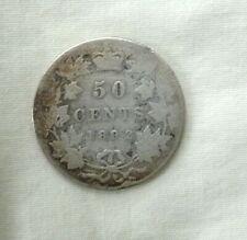 1892 Canadian Silver Half Dollar  Rare Date