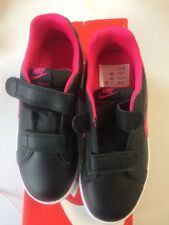 Nike Court Royale Girl Ch 74 Nero Junior ROSA taglia 13 U.K.