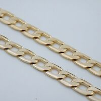 "8"" MENS 10MM GOLD EP CUBAN LINK BRACELET"