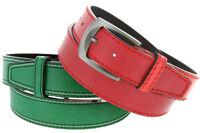 "Triple Stitched Genuine Leather Golf Belt 1-1/2"" Wide"